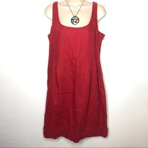 Fiori di Zucca red linen dress 12